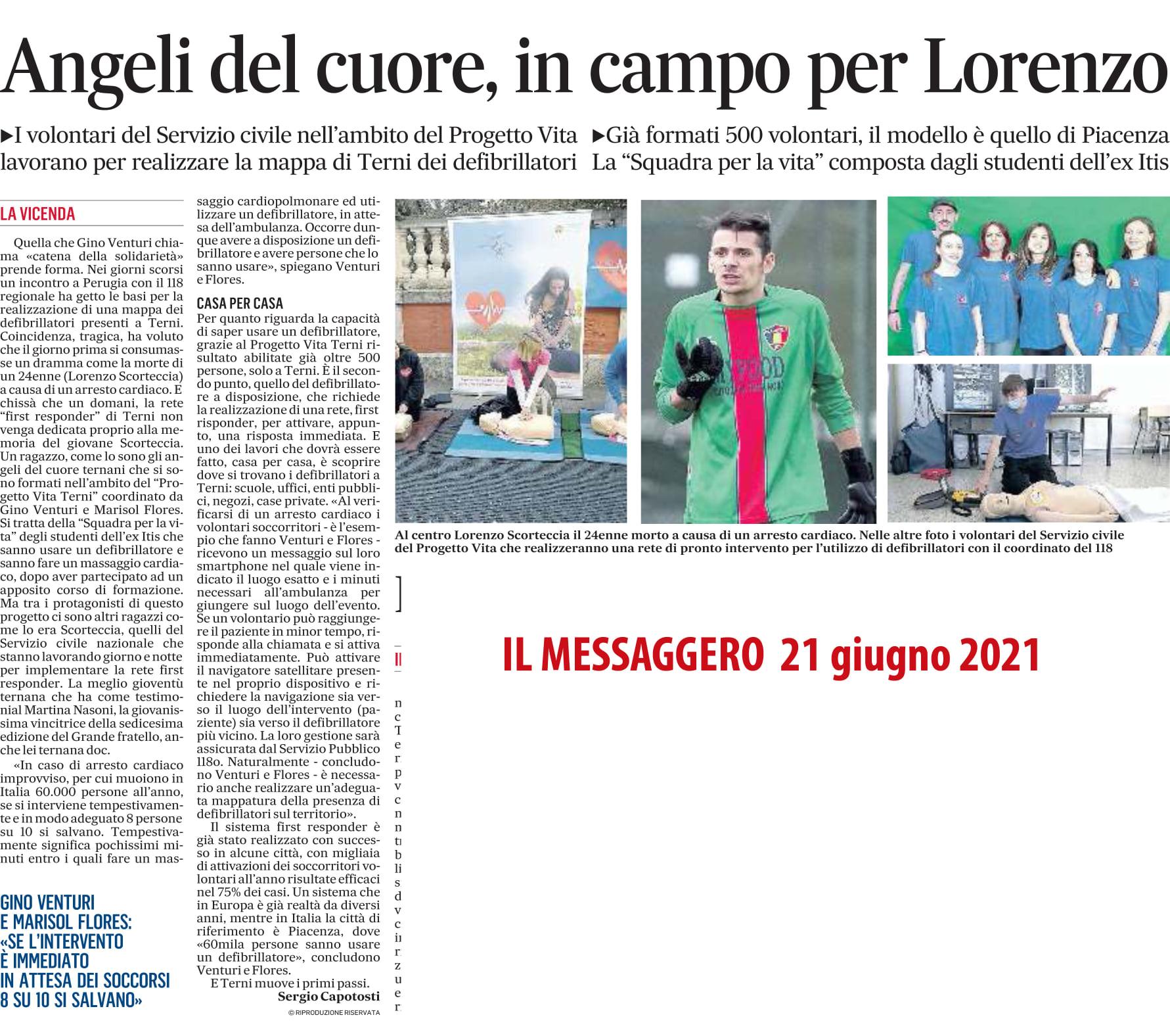 Angeli del cuore, in campo per Lorenzo